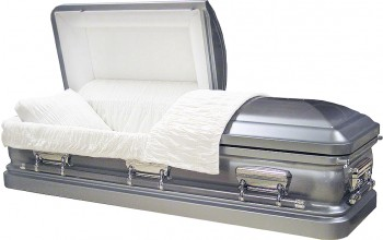 8920ss - Stainless Steel Casket Brushed Natural Platinum Finish