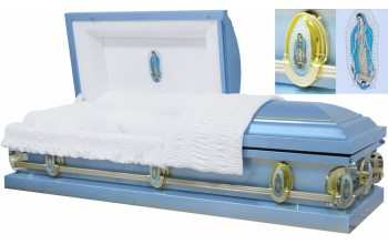 8360 - 18 Gauge Steel Casket Our Lady of Guadalupe in Head Panel