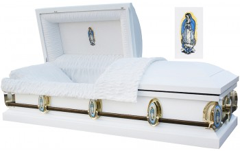 8550 - 18 Gauge Steel Casket Our Lady of Guadalupe in Head Panel